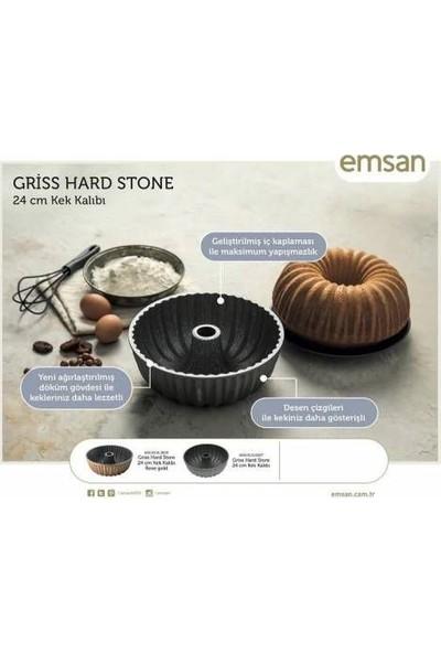 Emsan Griss Hard Stone Granit 24 Cm Döküm Kek Kalıbı