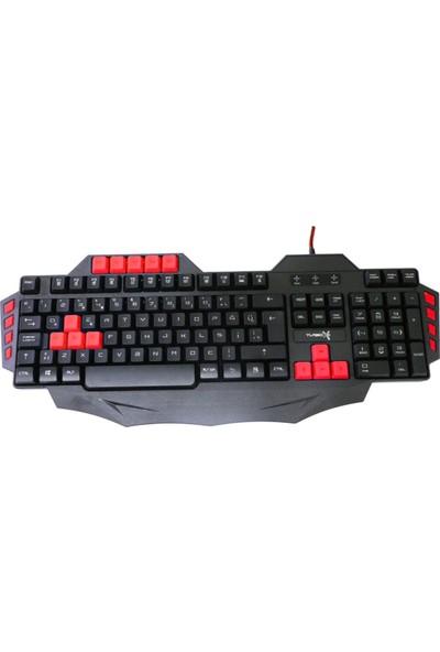 Turbox TR-G1 Kablolu Multimedya Oyuncu Klavye Kırmızı