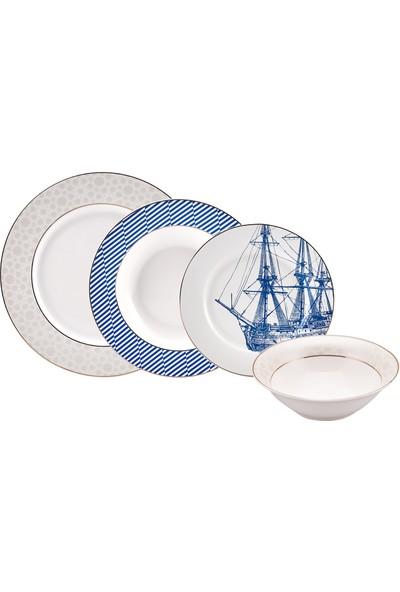 Karaca Navy Blue 6 Kişilik Yemek Takımı