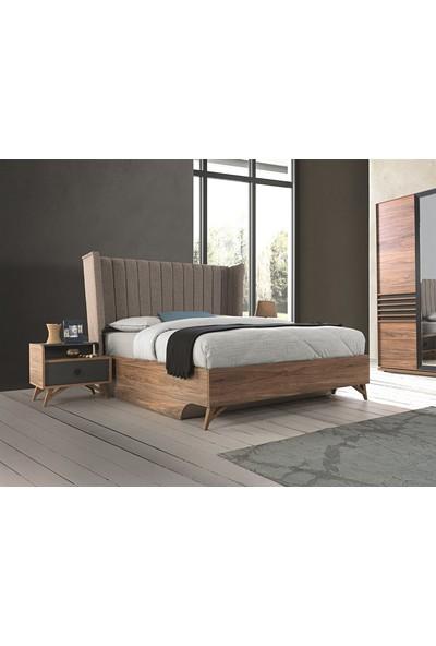 Allmode Notte Yatak Odası Bazalı K.Cevizantrasit