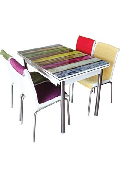 Allmode Renkli Mutfak Masası