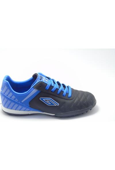 Dugana Siyah Mavi Halı Saha Ayakkabısı