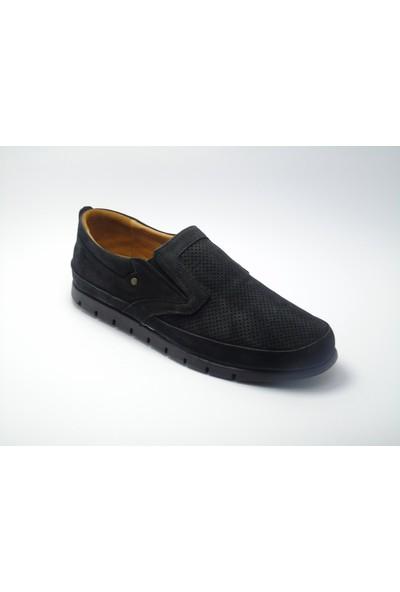 Bemsa Siyah Nubuk Deri Hafif Ayakkabı