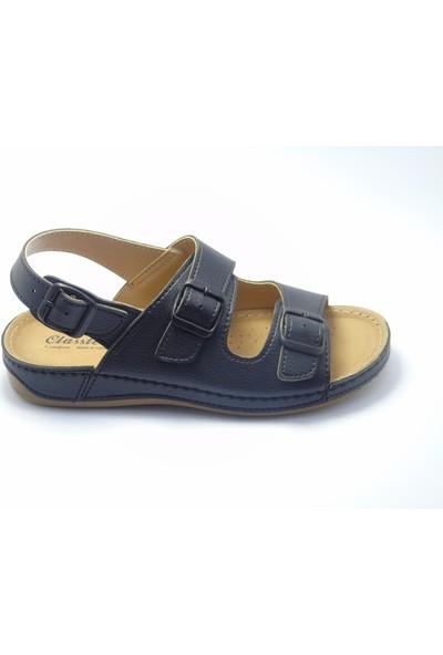 Classter Comfort Siyah Erkek Sandalet