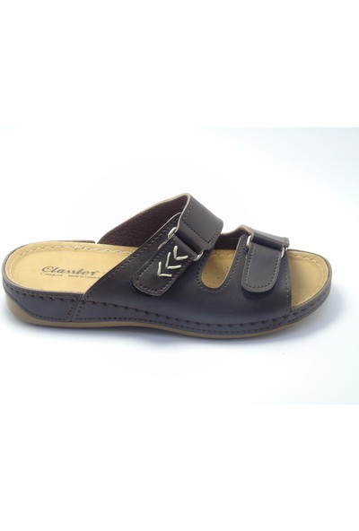Classter Comfort Cırtlı Kahverengi Erkek Terlik