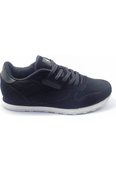 M.P Legendary Siyah Nubuk Sneaker