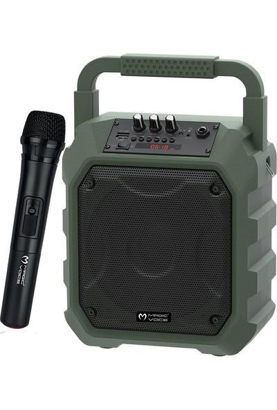 Magicvoice Mv-10148Ae Kablosuz El Mikrofonlu Usb-Sd-Bt Taşınabilir Seyyar Ses Sistemi