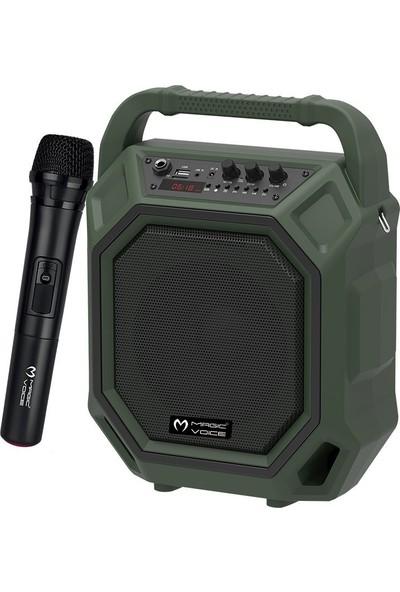 Magicvoice Mv-10132Ae Kablosuz El Mikrofonlu Usb-Sd-Bt Taşınabilir Seyyar Ses Sistemi
