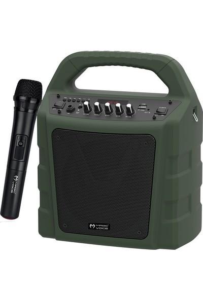 Magicvoice Mv-10175Ae Kablosuz El Mikrofonlu Usb-Sd-Bt Taşınabilir Seyyar Ses Sistemi