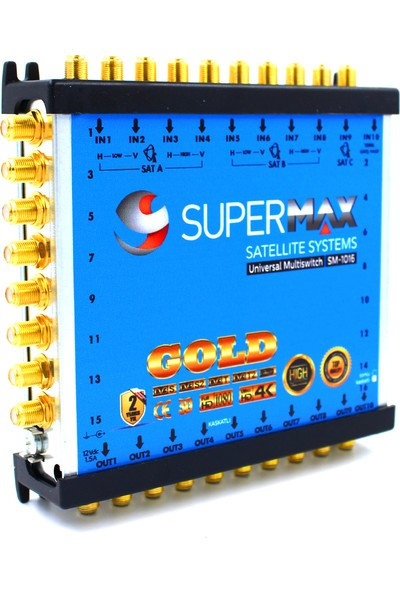 Supermax 10/16 Dual Multiswitch Gold Uydu Santrali