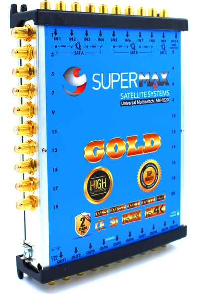 Supermax 10/20 Dual Multiswitch Gold Uydu Santrali