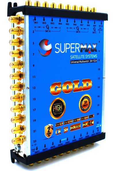 Supermax 10/24 Dual Multiswitch Gold Uydu Santrali