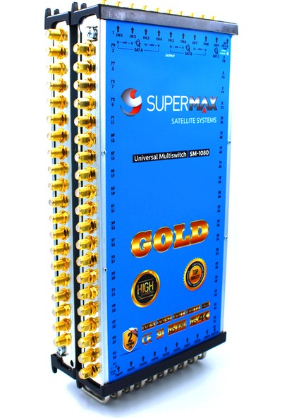Supermax 10/80 Dual Multiswitch Gold Uydu Santrali