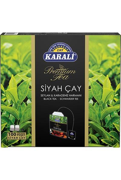 Karali Premium Bardak Poşet Siyah Çay 100'lü