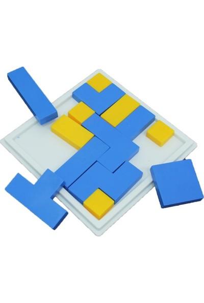 Güçlü Plastik Plastik Tangram Puzzle