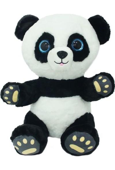 Sunman Oturan Mavi Gözlü Peluş Panda