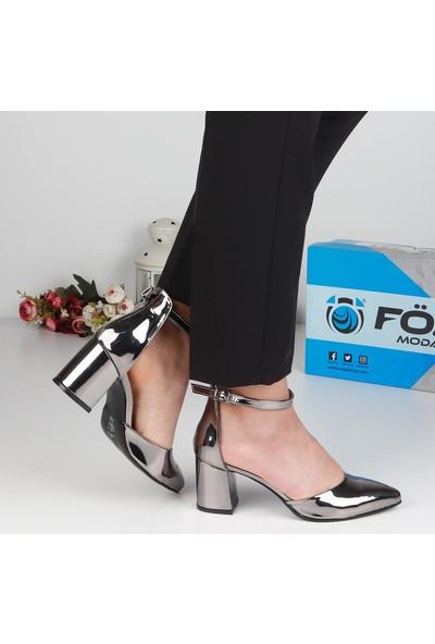 Föz Füme Bilek Kemerli Kadın Topuklu Ayakkabı