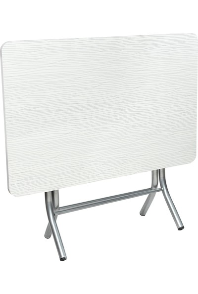 Sinem Katlanır Kırma Katlanabilir Ahşap 70X110 Beyaz Masa