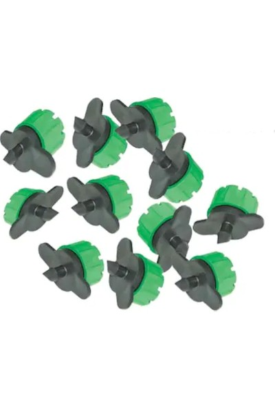 Senkron Damla Sulama Damlatıcı Yeşil Meme 0-100 L/S (250'Lı Paket)