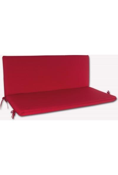 Drc Arkalıklı Bank Minderi 110X50X5Cm Kırmızı