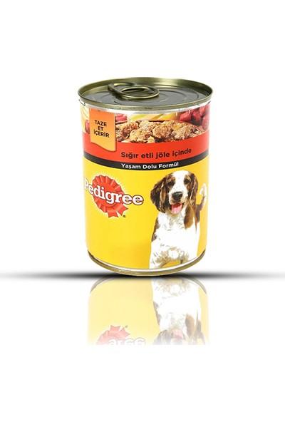 Pedigree Biftekli Konserve Köpek Maması 400 gr (12 Adet)