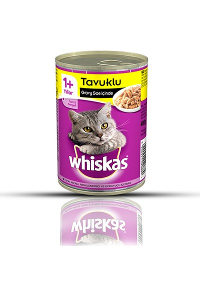 Whiskas Tavuklu Konserve Kedi Maması 400 Gr x 12 Adet