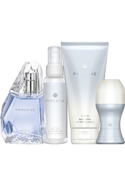 Avon Perceive Edp 50 ml Bayan Parfüm 4 Lü İdeal Set