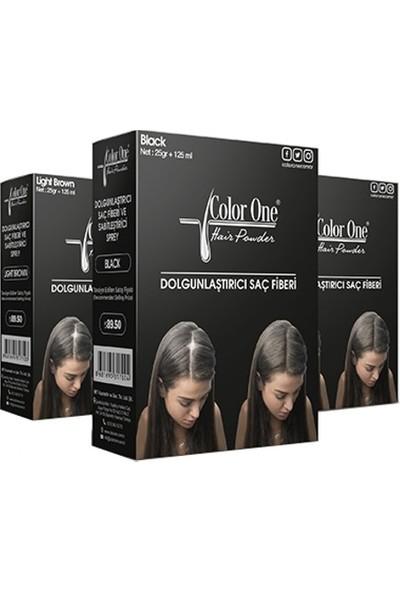 Color One Dolgunlaştirici Saç Fi̇beri̇ Dark Brown 25+100 ml Topi̇k