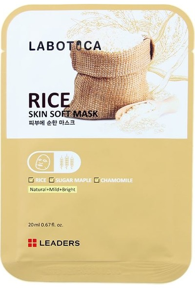 Leaders Labotica Skin Soft Mask Rice