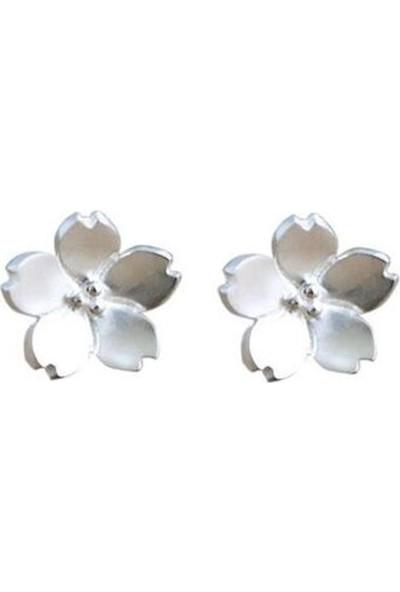 VipBT 925 Ayar 5 Yapraklı Çiçek Gümüş Küpe