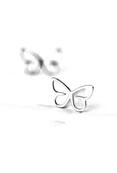 Vipbt 925 Ayar Kelebek Gümüş Küpe