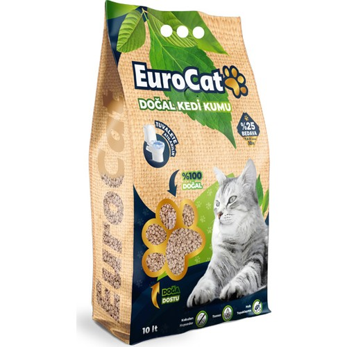 Eurocat Hızlı Topaklaşan Doğal Kedi Kumu 10 Lt 3.75 Kg