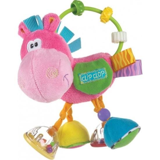 Playgro Toy Box Çıngıraklı Zebra Aktivasyon Oyuncağı - Pembe