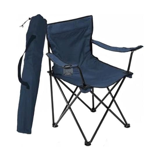 Bofigo Kamp Sandalyesi Katlanır Sandalye Bahçe Koltuğu Piknik Plaj Balkon Sandalyesi Mavi