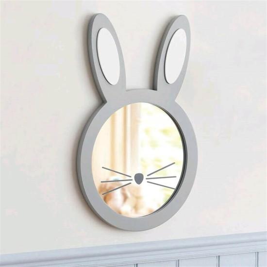 Dekorbizden Gri̇ Tavşan Ayna