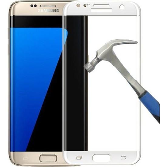 Case Street Samsung Galaxy S6 Edge Full Kapatan Renkli Cam Beyaz