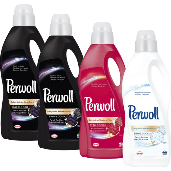 Perwoll Fashion 2lt 4'lü Set ( 2 siyah 1 renkli 1 beyaz)