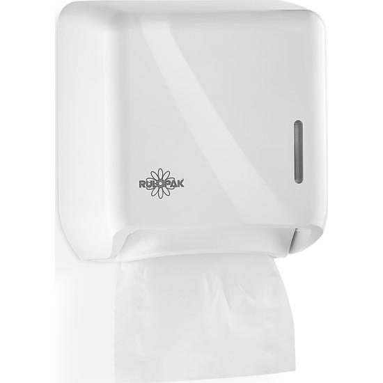 Rulopak R-1319 S Tekçek Mini Tuvalet Kağıdı Dispenseri Beyaz