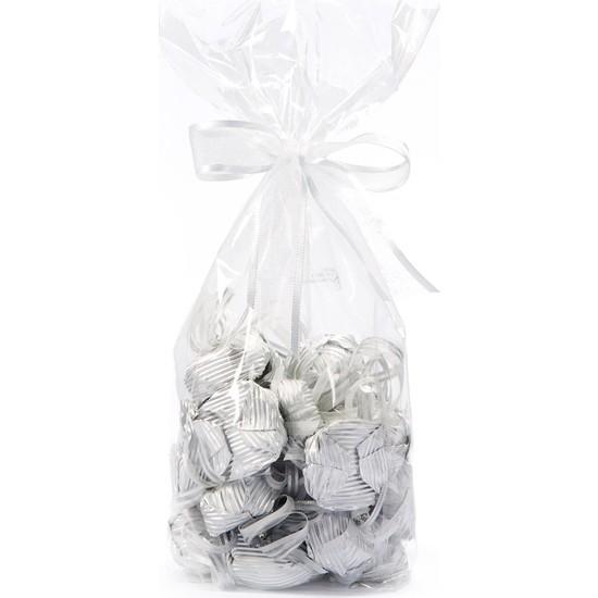 Melodi Çikolata Gümüş Yaldızlı Dekorlu Tektaş Çikolata