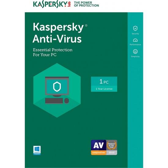 Kaspersky Anti-Virus 1 Kullanıcı 1 Yıl Virüs Programı Digital Lisans