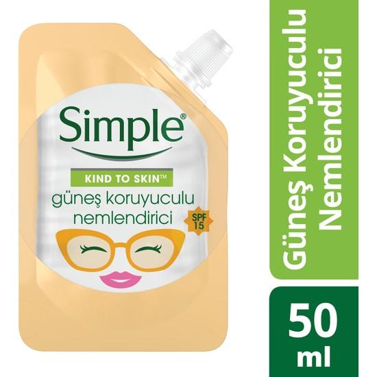Simple Kind To Skin Mini Güneş Koruyuculu Nemlendirici 50 Ml - Seyahat Boyu