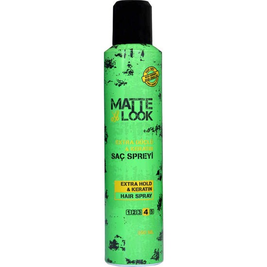 Matte Look Extra Güçlü Saç Spreyi 250 ML