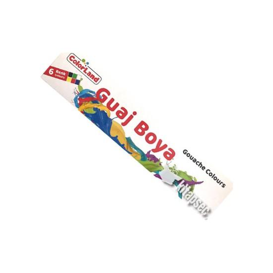 Colorland 6 Renk Guaj Boya