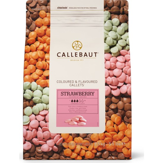 Callebaut Çilekli Damla Çikolata (2.5 kg)