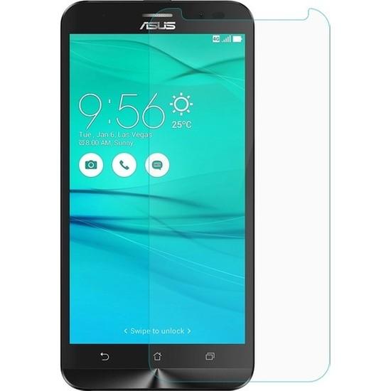 Casestore Asus Zenfone 3 Max ZC553KL Nano Ekran Koruyucu Cam Şeffaf + Şeffaf Silikon Kılıf