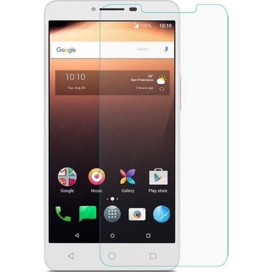 Casestore Alcatel A5 XL Nano Ekran Koruyucu Cam Şeffaf + Şeffaf Silikon Kılıf