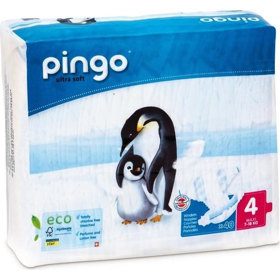 Pingo No:4 Ekolojik Bebek Bezi Maxi 40 Adet