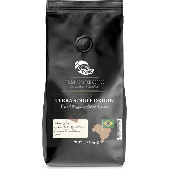 Coffeetropic Terra Single Origin Brasil Mogiana Yellow Bourbon 1 Kg