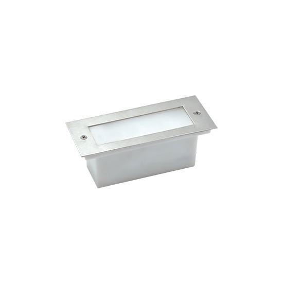 Aker Lighting Paslanmaz Çelik 11Cm Beyaz Led`Li 1W Gömme Koridor Aydınlatması