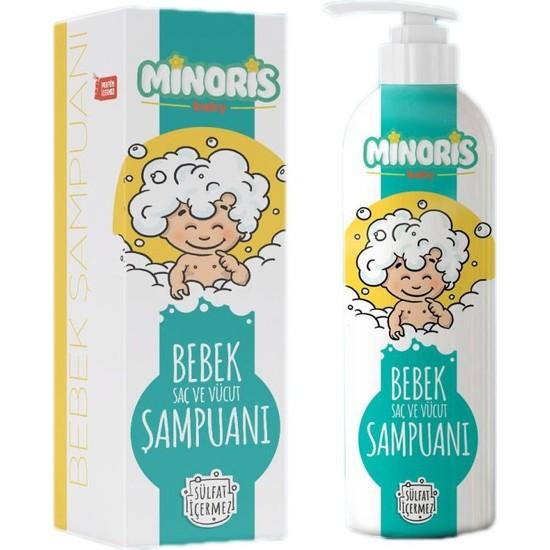 Minoris Baby Organik Bebek Saç ve Vücut Şampuan 400 ml sülfatsız